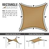Sorbus Sun Shade Sail [8' X 10'] Canopy - Rectangle