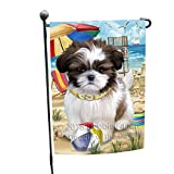 Doggie of the Day Pet Friendly Beach Shih Tzu Dog Garden Flag GFLG49925 For Sale