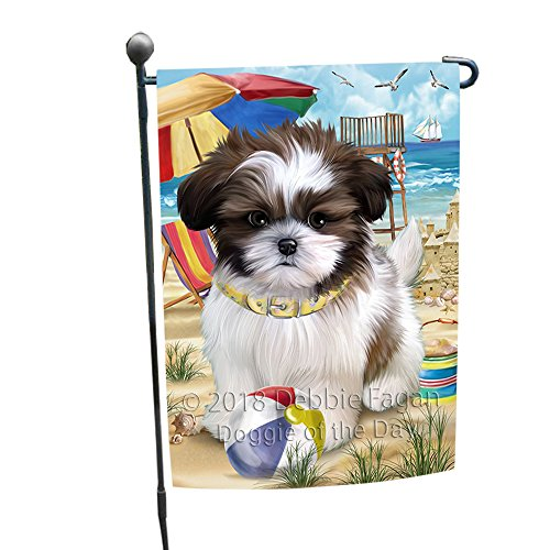 Doggie of the Day Pet Friendly Beach Shih Tzu Dog Garden Flag GFLG49925