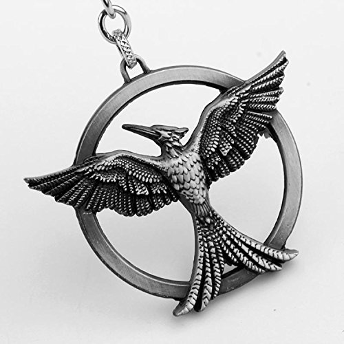 Double Sided Sign Keychain - Hunger Game Mocking Bird (Ancient tin)