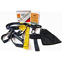 SUSPENSION TRAINING STRAPS Home Gym Fitness Equipment - Heavy Duty Door Anchor - Extension Strap & CARRY BAG - Workout Program
