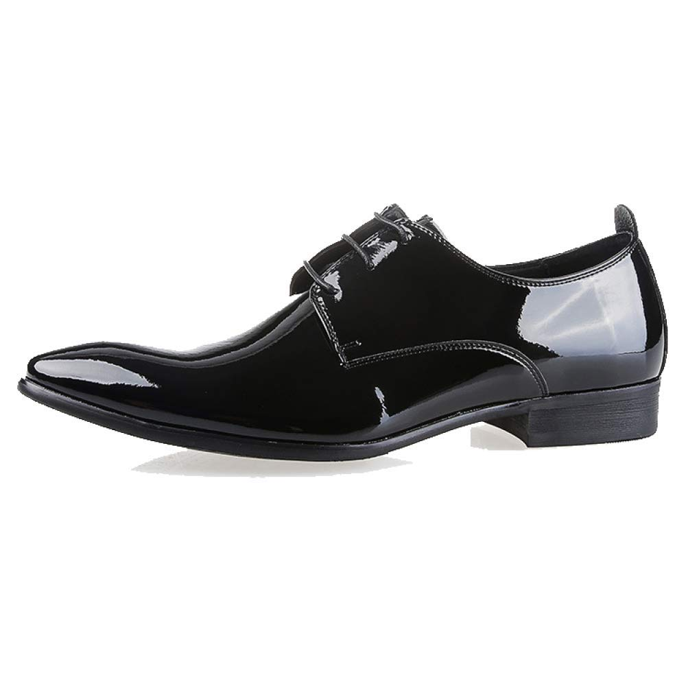 YCGCM England, Herrenschuhe, Business , Niedrig Top Schuhe, England, YCGCM Spitze, Komfort, Abriebfest schwarzshinyLeder cc5364