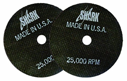 Shark 12704 3-Inch by 1/16-Inch by 3/8-Inch Double Reinforced Cut-off Wheels, 54-Grit, 10-Pack by Shark