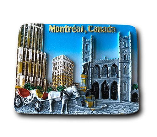 3D Canada Montreal Refrigerator Magnets Tourist Souvenirs Resin Home & Kitchen Decoration Promotional Gift Fridge Magnet