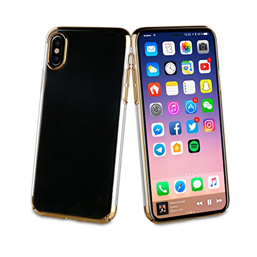 Muvit Coque Crystal Edition Or Pour Apple Iphone X