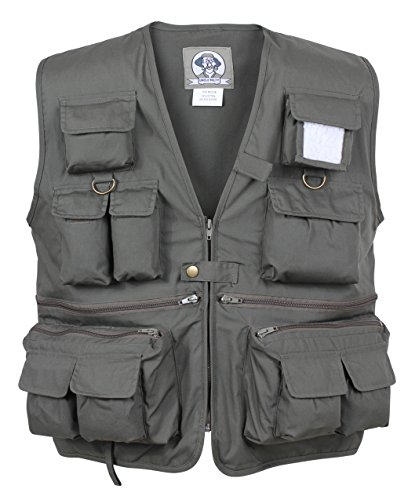 Rothco Uncle Military Vest, Olive Drab, (All Weather Vest)