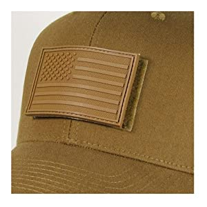 Rapdom Tactical USA Flag Rubber Patch, Coyote, 3 x 2-Inch