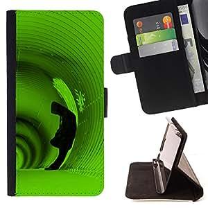 - deep tunnel hoodie man green alone - - Prima caja de la PU billetera de cuero con ranuras para tarjetas, efectivo desmontable correa para l Funny HouseFOR HTC DESIRE 816
