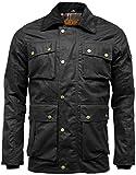 Mens Utilitas Waxed Cotton Multipocket Wax Jacket Medium Black