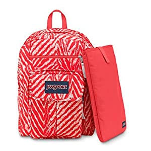 Jansport Digital Student Backpack in Coral Peaches Wild At Heart
