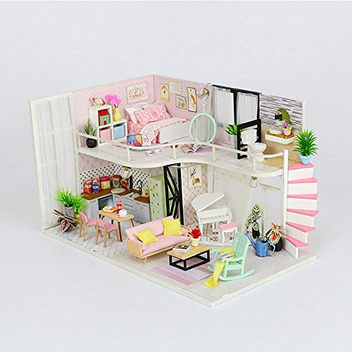 Labu Store Doll House Wooden Furniture DIY House Miniature Box Puzzle Assemble 3D Miniaturas Dollhouse Kits Toys for Children Birthday Gift