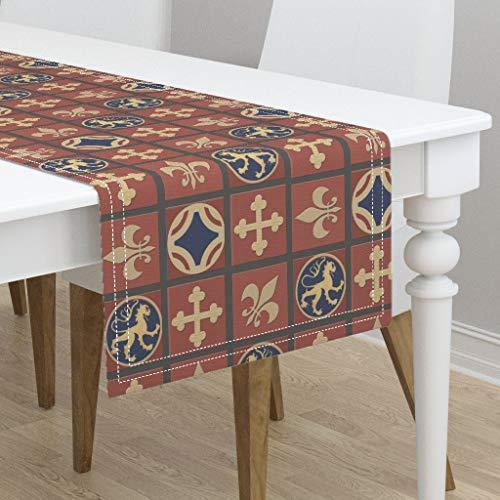 Table Runner - Medieval Tile Floor Cloth