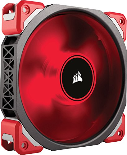 Magnetic Levitation Fan - Corsair ML120 Pro LED, Red, 120mm Premium Magnetic Levitation Cooling Fan CO-9050042-WW