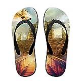 Tisky Men's Sandals Light Weight Shock Proof Slippers Flip-Flops Pigeon Ladder To Heaven Church