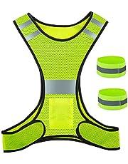 ZWOOS Reflecterend Vest en Band, Goed Zichtbare Verstelbare Reflectoren voor Hardlopen, Fietsen en Joggen