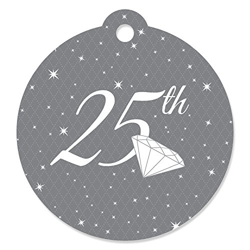 25th Anniversary - Wedding Anniversary Party Favor Gift Tags (Set of (Anniversary Wedding Favors)