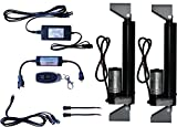 WindyNation (2pcs) 12 Volt, 225 lbs Linear Actuators + AC to 12 VDC Power Supply + Wireless Remote Control DPDT Switch + Actuator Mounting Brackets + Wiring & Connectors