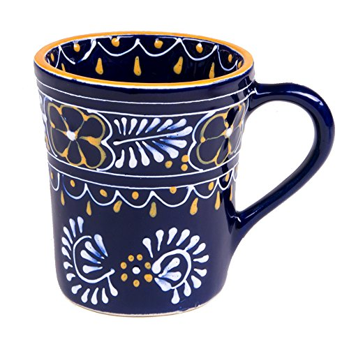 Mexican Themed Coffee Mugs - Hand Painted and Custom Made Traditional Mexican Pottery - Bright, Colorful, Lead Free and Superior quality.