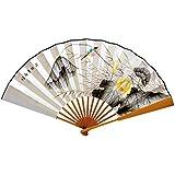 Oriental Style Folding Fan Hand Fan Handfan Handheld Fan Perfect Gift, O
