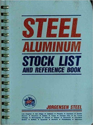 Steel Aluminum Stock List and Reference Book NO. 81