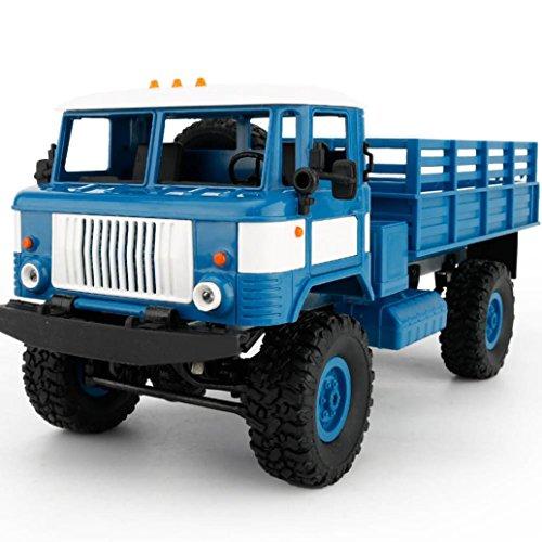 Diy Toddler Ninja Costume (Kanzd WPL B-24 1:16 4WD RC DIY Assemble Military Truck Control Car Toy (Blue))