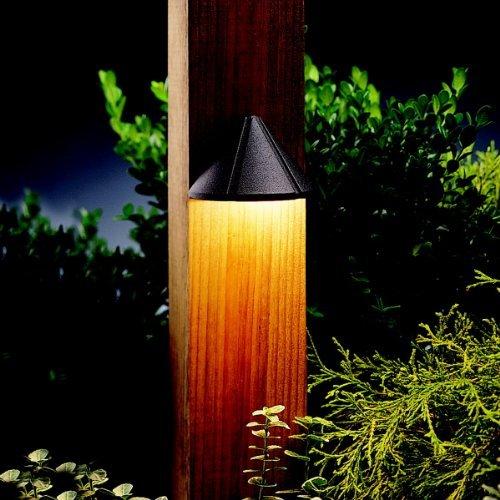 Kichler Lighting 15065AZT Mini Deck Light 12-Volt Deck and Patio Light, Textured Architectural Bronze by Kichler