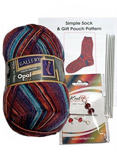 De ópalo 4ply Kit para tejer calcetines ovillo de lana - Ovillo de lana, DPN