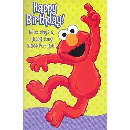 Elmo Birthday Sound Card Amazoncouk Kitchen Home