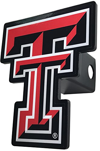 AMG Auto Emblems NCAA Solid Metal Custom Shaped Hitch Cover (Texas Tech)