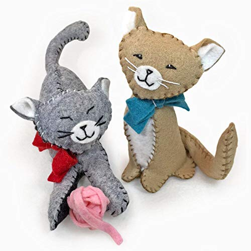 (Heidi Boyd | Purrfect Pals Cats | Whimsy Kits | These Kitties are Guaranteed to Make You Smile with This All Inclusive Felt Craft Sewing Kit Age 13+)