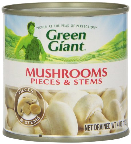 Green Giant Mushrooms - Pieces & Stems - 4 oz