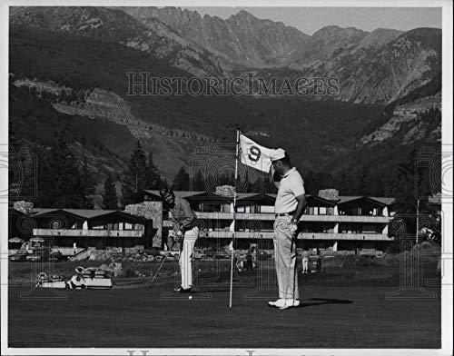 Historic Images - 1987 Vintage Press Photo Golfers enjoy new nine-hole at Vail, Colorado - cva20017
