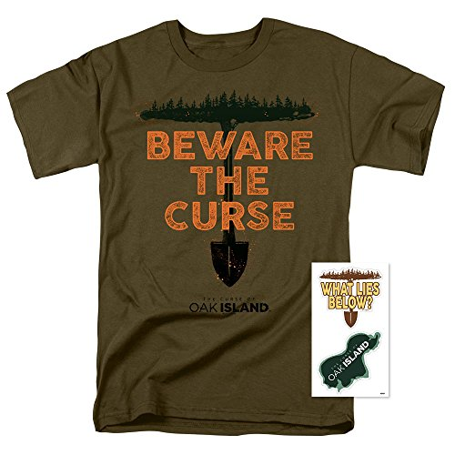 Popfunk The Curse of Oak Island History Channel Reality TV T-Shirt & Stickers (Small)