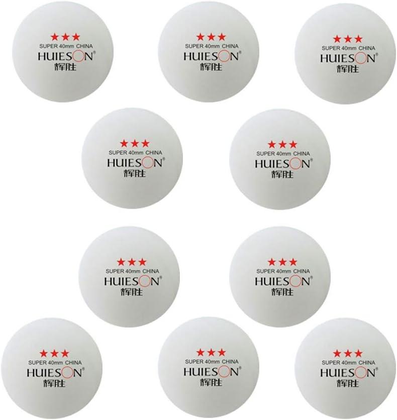 Bascar - Juego de pelotas de ping pong (10 unidades, 40 mm, para ping pong o para publicidad)