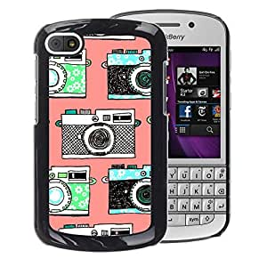 A-type Arte & diseño plástico duro Fundas Cover Cubre Hard Case Cover para BlackBerry Q10 (Camera Vintage Photo Photography)