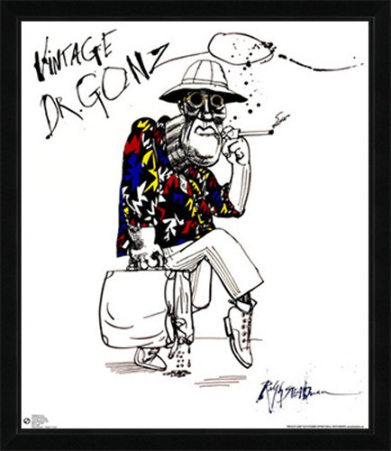 Dr. Gonzo Poster (24x28) with Contemporary Poster Frame: Amazon.co ...