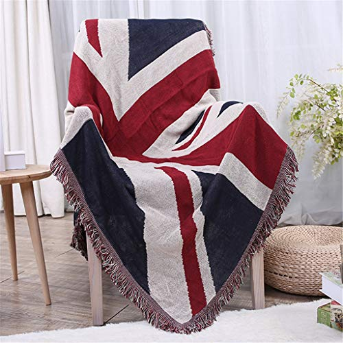 Sofa Blanket Throw Blankets UK Flag for Any Season Bed Cover Cotton Blanket Piano Cover Towel (Color : A, Size : 180x230cm)