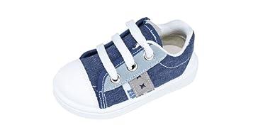 Zapatillas Lona Niño Marino Cremallera Cordones ZAPY: Amazon.es: Zapatos y complementos