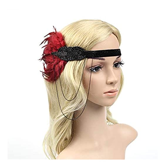 Kopfschmuck & Fascinators Damen-accessoires Retro Pfau Feder Stirnband Haarband Fascinator Hochzeit 1920er Jahre Flapper