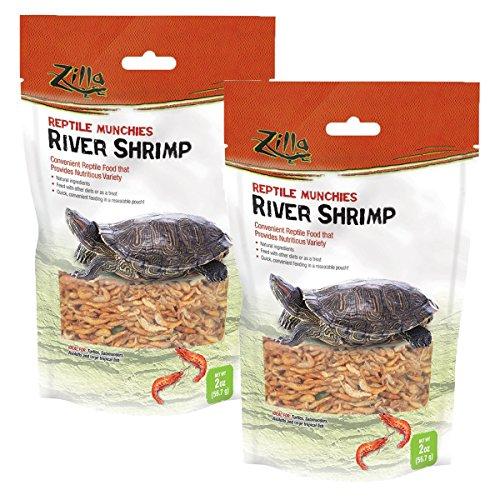 Zilla Reptile Food Munchies River Shrimp, 4-Ounce