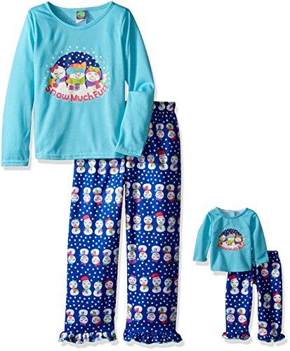 Dollie Me Girls Snowman Sleepwear