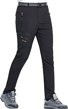 BenBoy Pantalon Montaña Hombre Secado Rápido Impermeable Pantalones Trekking Escalada Senderismo Acampada Transpirables y Ligeros