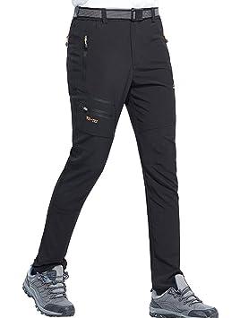 nueva llegada mejor sitio web estilo máximo DENGBOSN Pantalones Trekking Hombre Escalada Montaña Verano Secado Rápido  Impermeables Pantalones de Senderismo Transpirables y Ligeros