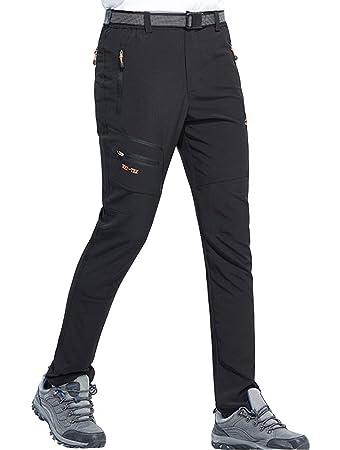 aaf4759cbc5 DENGBOSN Hiking Pants Mens Trousers Zipper Pockets Windproof Pants Outdoor  Sports Climbing Walking (S