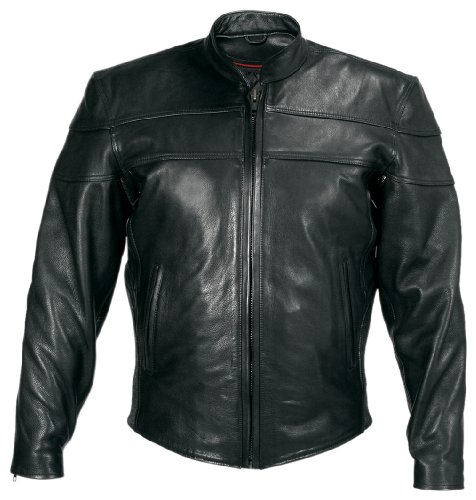 Milwaukee Motorcycle Clothing Company Motorcycle Maverick Jacket (Black, X-Large)