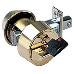 """* Captive key can be altered by the user to function as a double or single cylinder deadbolt. Application: High security deadbolt system for commercial and residential doors. Operation: 90° key rotation throws the bolt 1"""" toward the frame, in..."""