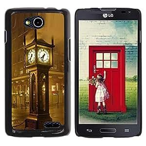 Be Good Phone Accessory // Dura Cáscara cubierta Protectora Caso Carcasa Funda de Protección para LG OPTIMUS L90 / D415 // Architecture Big Ben rain