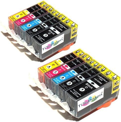 10x Canon Pixma Mp550 Kompatible Druckerpatronen Cyan Gelb Magenta Schwarz Patronen Mit Chip Bürobedarf Schreibwaren
