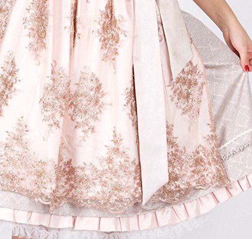 15430 Krüger Collection 60er Dirndl beige rose