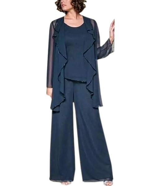 Amazon.com: Elegantes pantalones de gasa para mujer, 3 ...